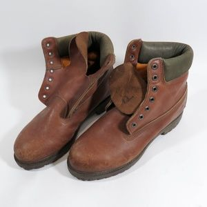 Vintage Timberland Size 8.5 Leather Work Boots